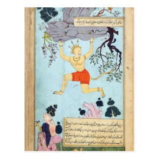De God van de Aap van Ramayana Briefkaart