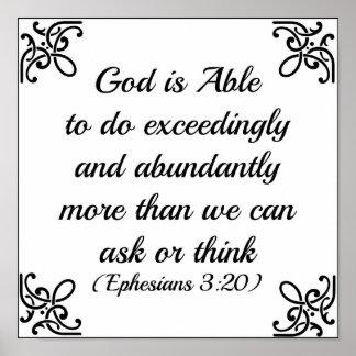 De God van de Bijbel van Ephesians kan bijzonder Poster