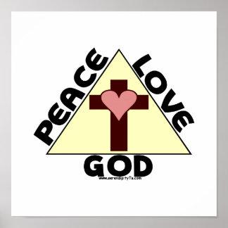 De God van de Liefde van de vrede Poster