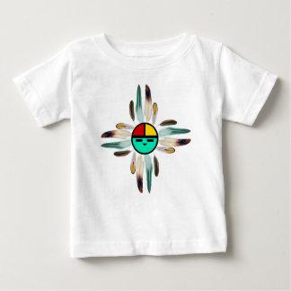 De God van de Zon van Zia met Veren Baby T Shirts