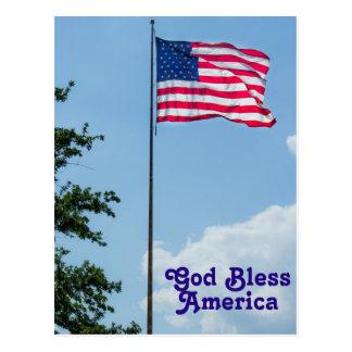 De god zegent Amerika Briefkaart