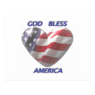 De god zegent de Briefkaarten van Amerika
