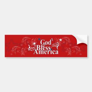 De god zegent de Sticker van de Bumper van Amerika