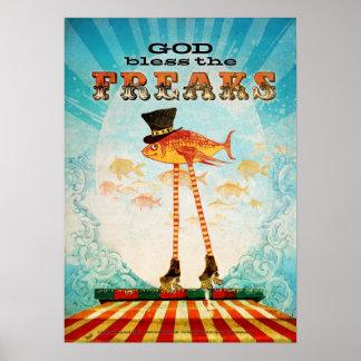 De god zegent Freaks Poster