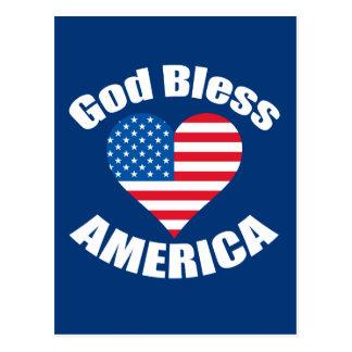 De god zegent het Hart van Amerika Briefkaart