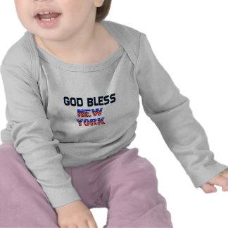 De god zegent New York Tshirt