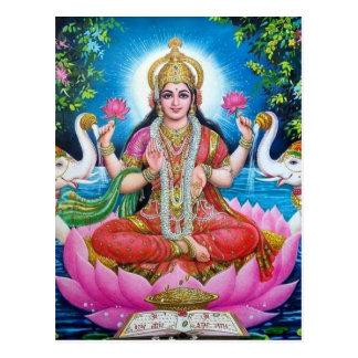 De Godin van Lakshmi van Liefde, Welvaart, en Briefkaart