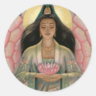 De Godin van Yin van Kuan van Medeleven Ronde Sticker