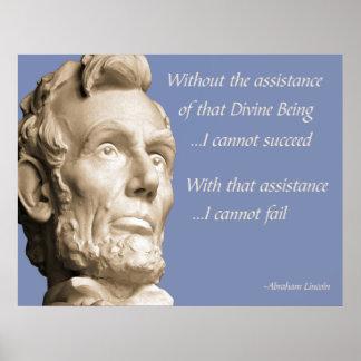 De Godsdienst van Abraham Lincoln Poster