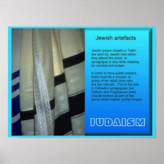 De Godsdiensten van de wereld, Joodse artefacten Poster