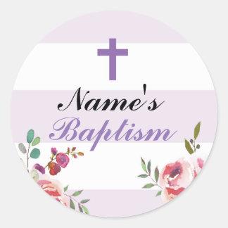 De godsdienstige Paarse Etiketten van de Stickers