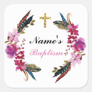 De godsdienstige Roze Etiketten van de Kroon van