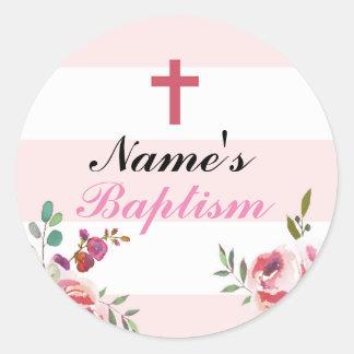 De godsdienstige Roze Etiketten van de Stickers
