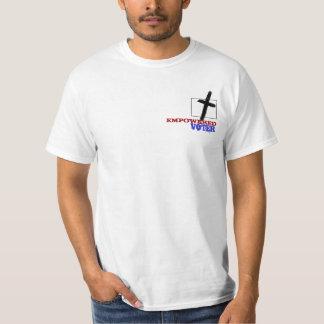De godsdienstige T-shirt van de Vrijheid bidt en