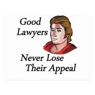 De goede advocaten bemannen briefkaart