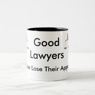 De goede Advocaten verliezen nooit Hun Beroep Tweekleurige Koffiemok