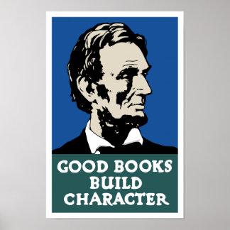 De goede Boeken bouwen Karakter -- WPA Poster