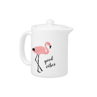 De Goede Roze Zwarte Theepot Vibes van de flamingo