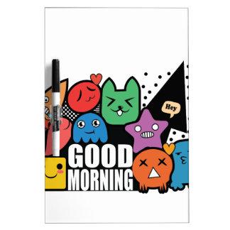 De Goedemorgen van de krabbel Dry Erase Whiteboard