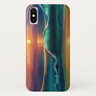 De Golf van het strand iPhone X Hoesje