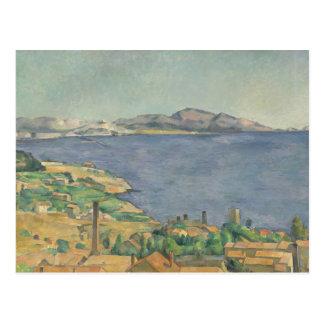 De golf van Marseille van L'Estaque wordt gezien Briefkaart