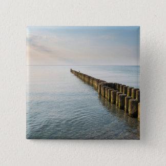De Golfbrekers van het zee Vierkante Button 5,1 Cm