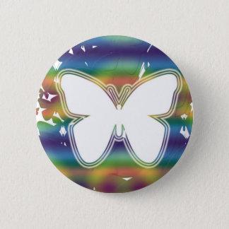 De golven van de vlinder ronde button 5,7 cm