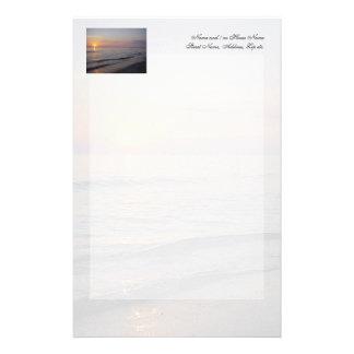 De Golven van het Strand van de zonsondergang, Briefpapier