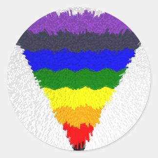 De golvende Trechter van de Driehoek van de Ronde Sticker