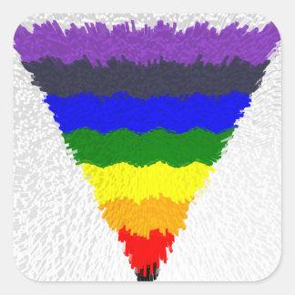 De golvende Trechter van de Driehoek van de Vierkante Sticker