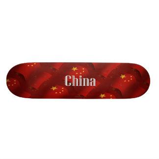 De Golvende Vlag van China 21,6 Cm Skateboard Deck