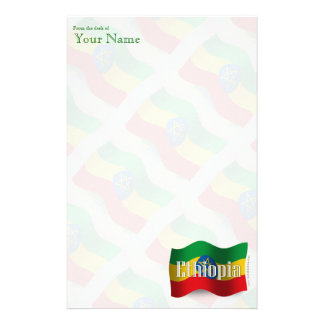 De Golvende Vlag van Ethiopië Briefpapier