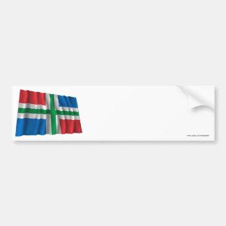 De Golvende Vlag van Groningen Bumpersticker