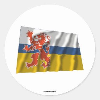 De Golvende Vlag van Limburg Ronde Sticker