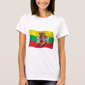 De golvende Vlag van Litouwen T Shirt