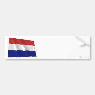 De Golvende Vlag van Nederland Bumpersticker