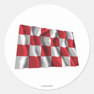 De Golvende Vlag van Noord-Brabant Ronde Stickers