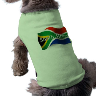 De Golvende Vlag van Zuid-Afrika Mouwloos Hondenshirt