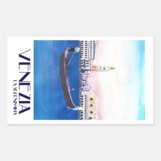 De Gondel van Venetië Italië op Groot Kanaal met Rechthoekige Sticker