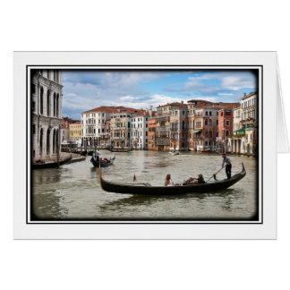 De Gondel van Venetië Wenskaart