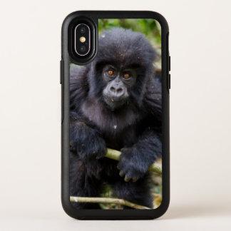 De Gorilla van de berg (Gorilla Beringei Beringei) OtterBox Symmetry iPhone X Hoesje