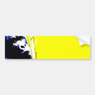 De Gorilla van het pop-art Bumpersticker