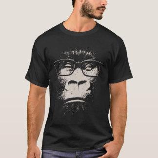 De Gorilla van Hipster met Glazen T Shirt