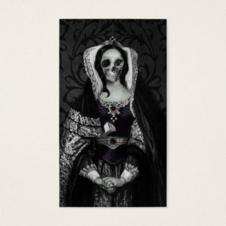 De gotische Dame van de Schedel Visitekaartjes
