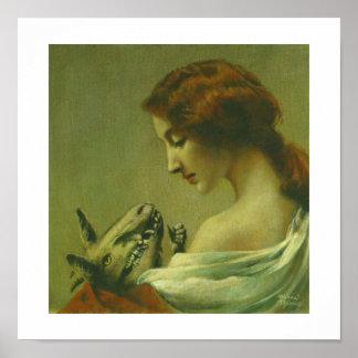 De gotische Druk van de Duivel van de Moeder en Poster
