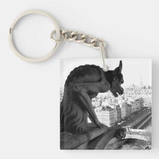 De Gotische Gargouille van Notre Dame keychain Sleutelhanger