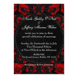 De gotische Rode Uitnodiging van het Huwelijk van