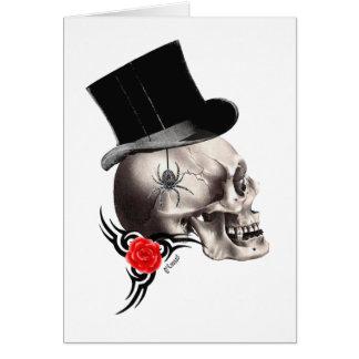 De gotische schedel en nam tattoostijl toe kaart