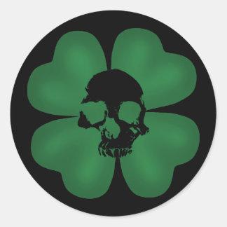 De gotische St Patricks griezelige klaver van de Ronde Stickers