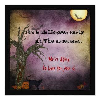 De gotische Uitnodiging van Halloween van de Hemel